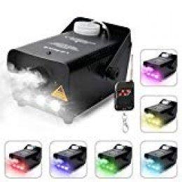 Virhuck 500W Machine Máquina de Niebla Profesional Control Remoto inalámbrico con Luces LED Cold Smoke Maker Chiller Sistema de generador de Niebla portátil
