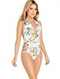 Sylvie Flirty Swimwear Britta, Trikini para Mujer, Multicolor (Flower Print 8888), 44 (Talla del fabricante: 42B)