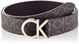 Calvin Klein CK Belt 3cm Cinturón, Marrón (Brown Mono 0hd), 100 (Talla del fabricante: 85) para Mujer