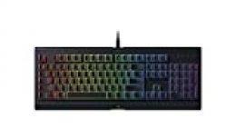 Razer Cynosa Chroma - Teclado Gaming con iluminación Razer Chroma con LED RGB, USB, Alámbrico, 16,8 millones de opciones de color personalizables, ES Layout, Negro