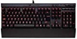 Corsair K70 LUX - Teclado mecánico Gaming, retroiluminación LED roja, Cherry MX Speed (Rápido y altamente preciso) - [QWERTY Español]