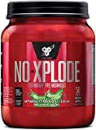 BSN Nutrition N.O.-Xplode, Suplementos Deportivos Pre Workout en Polvo con Creatina Monohidrato, Cafeina, Beta Alanina, Vitamina D y Vitamina B Complex, Menzana Verde, 50 Porciones, 1.05kg