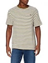 Tommy Hilfiger TJM Tommy Stripe tee Camiseta, Verde (Uniform Olive/White 0cd), Small para Hombre