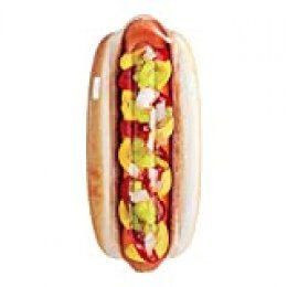 Intex 58771EU - Hinchable con forma de Hot Dog y asas, Multicolor