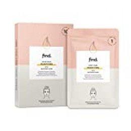 FIND - Mascarilla hidrogel, sin goteo, purificadora con ácido glicólico, pack de 10 unidades