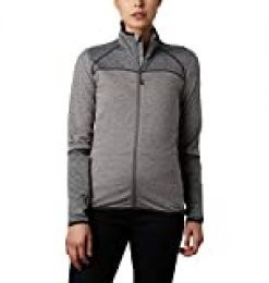 Columbia Baker Valley Forro Polar con Cremallera, Mujer, Gris (Charcoal Heather), L