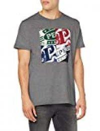 Pepe Jeans Josephs Camiseta, (Grey Marl 933), Large para Hombre