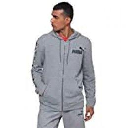 PUMA Amplified Hooded Jacket TR Sudadera, Hombre, Medium Gray Heather, XL