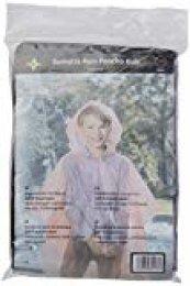 Korntex PONCHOKS - Poncho Impermeable Infantil (Talla única), Color Negro