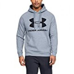 Under Armour Rival Fleece Sportstyle Logo Sudadera, Hombre, Gris, XL