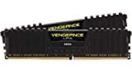Corsair Vengeance LPX Módulo de Memoria de Alto Rendimiento, 16GB ,2 x 8GB DDR4 3000MHz XMP 2.0 C16, Negro
