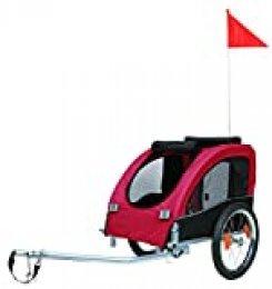 Tráiler Bicicleta, M, 43×45×73 cm, Rojo/Negro