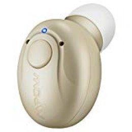 Mpow Mini Auricular Bluetooth, Invisible Auricular Inalámbrico con Microfono y Cancelación de Ruido,Bluetooth 4.1 con USB Magnéticos Manos Libres para Coche iPhone Samsung Huawei(Amarillo/EVA Bolsa)
