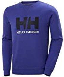 Helly Hansen HH Logo Crew Sudadera Deportiva, Hombre, Azul Royal, M