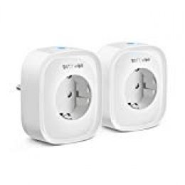 Enchufe Inteligente WiFi, Enchufe WiFi Smart Plug Funciona con Amazon Alexa Control por Voz, Google Home y IFTTT, No Se Require de Hub, Función de Temporización, 2-Pack BlitzWolf