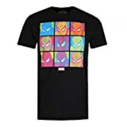 Marvel Pop Art Spidey-Mens T Shirt Med Camiseta, Negro (Black Blk), Medium (Talla del Fabricante: Medium) para Hombre