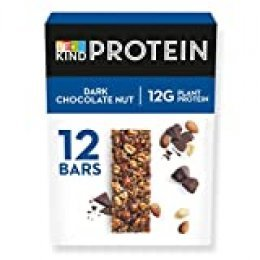 BE KIND Barrita Protein con Frutos secos y chocolate negro, paquete de 12 unidades