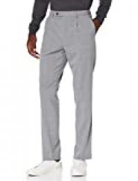 Marca Amazon - find. Pantalones de Vestir para Hombre, Gris (Grey Grey), 30W / 31L, Label: 30W / 31L
