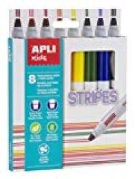 APLI Kids 16809 - Rotuladores Stripes 8 u.