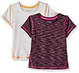 Amazon Essentials - Camiseta deportiva de manga corta para niña, paquete de 2 unidades