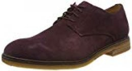 Clarks Clarkdale Moon, Zapatos de Cordones Derby para Hombre, Marrón (Burgundy Suede Burgundy Suede), 43 EU