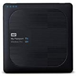 WD My Passport Wireless Pro - Disco Duro Externo portátil de 1 TB con Wi-Fi AC, SD y USB 3.0