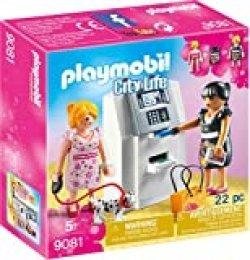 Playmobil Centro Comercial- Cajero Automático Playset de Figuras de Juguete, Multicolor, 4,1 x 14,2 x 14,2 cm (Playmobil 9081)