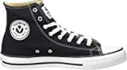 Victoria Botin Basket Autoclave, Zapatillas Altas Unisex Adulto, Noir Negro 10, 38 EU