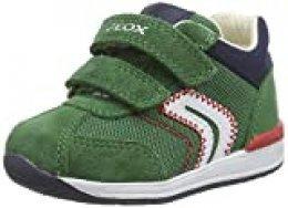 Geox B RISHON Boy B, Deportivas Niño Transpirantes con Diseño de Inspiración Running. para Bebés, Verde (Green C3000), 18 EU