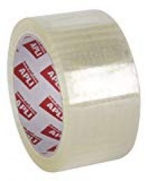 APLI 11942 - Pack de 36 rollos de precinto sin ruido, 48 mm x 66 m, 28 µm, color transparente