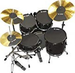 "Vic Firth 20 Inch Fusion Drum and Cymbal Mute Pad Set: 10"", 12"", 14""(x2), 20""Drum Pads Plus Hi-hat and 2 x Cymbal Pads"