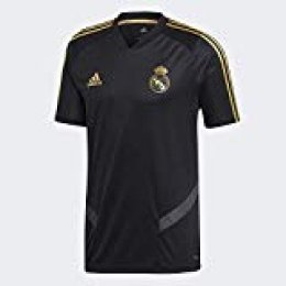 adidas Real TR JSY T-Shirt, Hombre, Black/Dark Football Gold, S