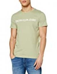 Calvin Klein Institutional Logo Slim SS tee Camiseta, Verde (Earth Sage L9a), X-Large para Hombre