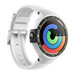 Ticwatch Reloj Inteligente Smart Watch S Glacier Pantalla Táctil de OLED 1.4 Pulgada Compatible con iOS y Android Sistema Android Wear 2.0 Comience Su Vida Inteligente Color Blanco