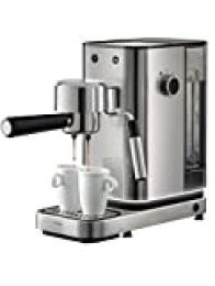WMF Espresso Maker Lumero - Cafetera expresso manual, presión 15 bares, espresso, capuccino, regulable, capacidad 1.5 litros, café molido o monodosis, con espumador de leche, acero inoxidable, 1400 W
