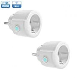 Enchufe Inteligente WiFi, Koogeek Mini Smart Plug, Control Remoto de Voz Funciona con Alexa/Google Assistant, Temporizador APP No Se Requiere Hub, IOS y Android 2.4GHz WIFI 16A (2 Packs)