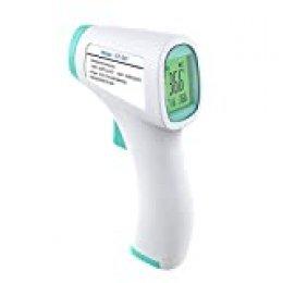 Lechnical Termómetro infrarrojo Termómetro frontal 50 Almacenamiento de datos Termómetros sin contacto con LCD tricolor retroiluminado Medidor de temperatura portátil de alta precisión Función