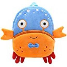 Haioo Mochila Infantil para Niños con Figuras de Animales Bonitos Mochilas Escolares para Niños 2-4 Años