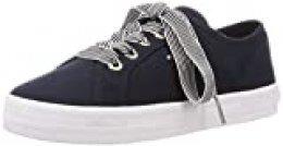 Tommy Hilfiger Essential Nautical Sneaker, Zapatillas para Mujer, Azul (Desert Sky Dw5), 42 EU