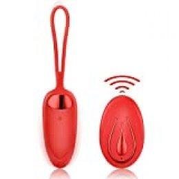 Huevos Vibradores FIDECH pro 2 - Balas para Mujer, 12 Modos de Frecuencia, Inalámbrico, Control Remoto, Recargable USB, IPX7 100% Impermeable