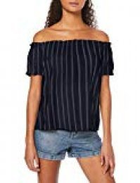 Vero Moda Vmanna Milo Off Shoulder Top Strip Color Camiseta para Mujer