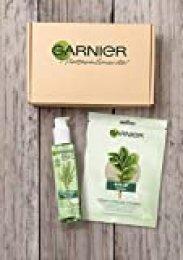 Garnier BIO - Kit Limpiador, incluye Gel Detox Lemongrass con Agua de Flor de Aciano Ecológica (150 ml) y Esponja Konjac Exfoliante