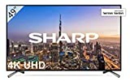 "Sharp LC-49UI8652E - UHD Smart TV Slim de 49"" (resolución 3840 x 2160, HDR+, 3X HDMI, 2X USB, 1x USB 3.0) Color Negro"