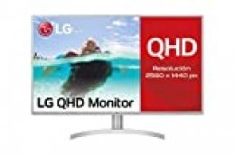 "LG 32QK500-C, Monitor Profesional QHD de 80 cm (31.5"") con Panel IPS (2560 x 1440 píxeles, 16:9, 300 CD/m², NTSC >72%, 1000:1, 8 ms, 75 Hz, DPx1, mDPx1, HDMIx2, Auriculares) Color Negro y Blanco"