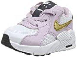 Nike Air MAX Excee TD, Zapatillas Unisex niños, Bianco/Mtlc Gold/Iced Lilac/Off Noir, 32 EU