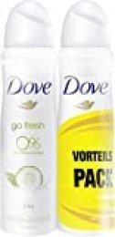 Desodorante Dove en spray de té verde y pepino, 0% de sales de aluminio, 6unidades de 150 ml