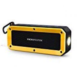 Energy Sistem Outdoor Box Bike - Altavoz con Bluetooth (10 W, con Soporte de Bicicleta, microSD, Radio FM, Linterna, Resistente al Agua) Color Negro y Amarillo