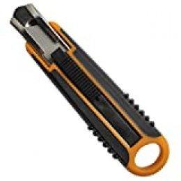 Fiskars Cúter de seguridad, 18 mm, Negro/Naranja, 1004683