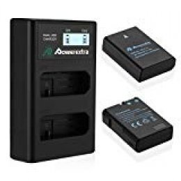 Powerextra Batería Nikon EN EL14 y EN-EL14a de Repuesto con Cargador Inteligente Pantalla LCD para Nikon P7000 P7100 P7700 P7800 D3100 D3200 D3300 D5100 D5200 D5300 DF Cámara