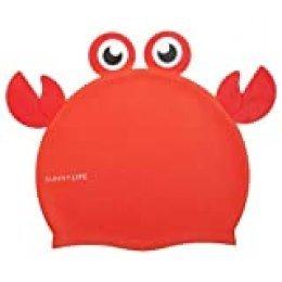 SunnyLIFE Shaped Swimming Cap 3-9 Crabby Gorro de natación, Rojo, Talla única